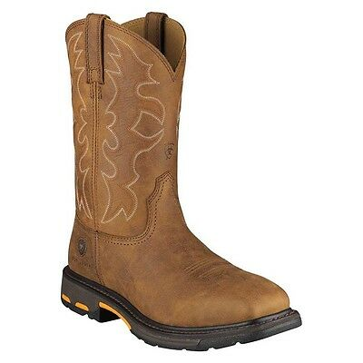Ariat Mens Workhog U Turn Steel Square Toe  Work Safety Western Boots 10006959