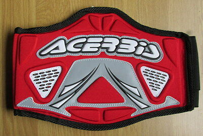 Acerbis 6619 Small Kids Childs Body Kidney Performance  Belt Accessories MX Red