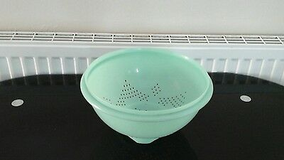 Vintage Tupperware large jade green colander / strainer 339-4