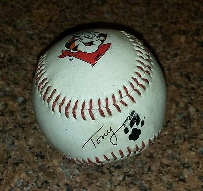Vintage 1980's kellogs Tony the Tiger baseball 'Signature Paw'.