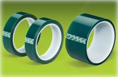 "Green Polyester Tape Powder Coating High Temp 1/4""x72yd 6mm"