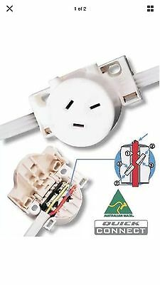 10x CLIPSAL 413QC Surface Socket Quick Connect 250VAC 10A 3 PIN Plug Base Outlet