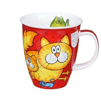 Dunoon Cat Mug NEW Fine Bone China Nevis Cats & Kittens in Gift Box Quality Art
