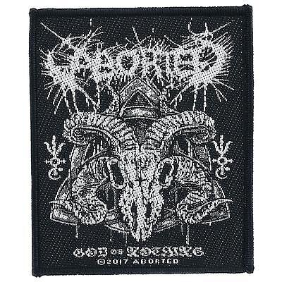 ABORTED - God of nothing 2017 - WOVEN SEW ON PATCH - free shipping