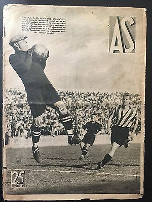 1934 Friendly. Sunderland, 3 - Spain 1. spanish sports newspaper