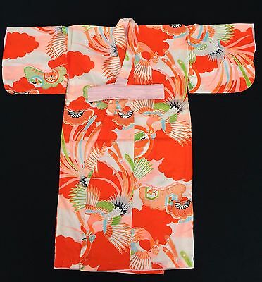 NEW authentic Japanese kimono for little girls, toddler, Japan import (E1660)