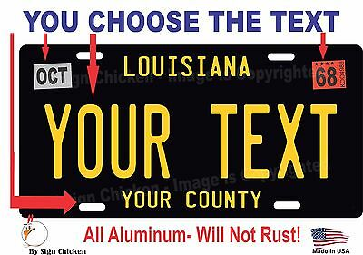 Louisiana License Plate Personalized Custom Car Bike Motorcycle Moped Tag