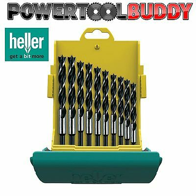 Heller 10pc CV Brad Point Wood Drill Bit Set 3mm-12mm Quality German Tool B2