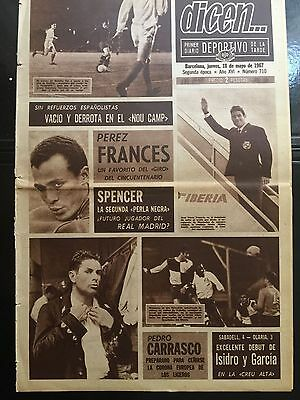 1967 Friendly. FC Barcelona, 1 - Nottingham, 2.spanish sports newspaper