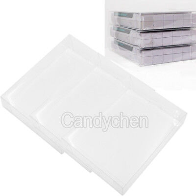 3Pcs Clear Plastic Sleeves Box Protectors For Nintendo SNES N64 NES Game Cases