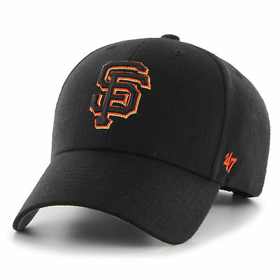 47 BRAND NEW Mens MLB San Francisco Giants MVP Cap Black BNWT