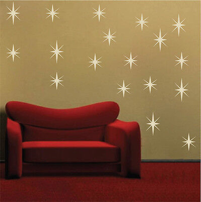 Sparkly Stars Wall Decals Christmas Window Stickers Christmas Decorations, h47