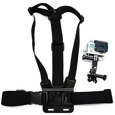 Chest Body Strap with 3-way Adjustable Mount Accessories For Gopro 6 5 4 3 2 1