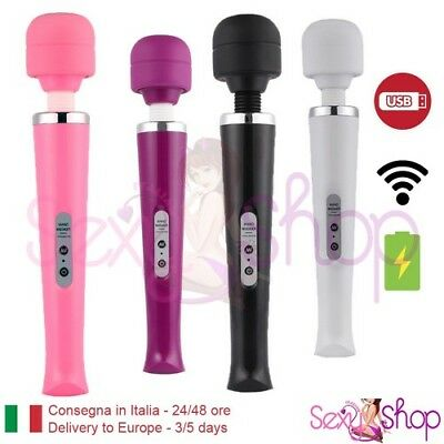 Magic Wand Vibratore Vaginale senza fili Massaggiatore corpo wireless Massaggio