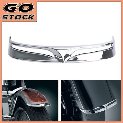 Chrome Rear Tail Edge Fender Trim Tip  for 2007-2016 Harley Softail Fatboy FLSTF