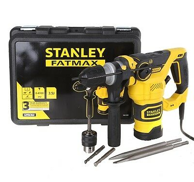 Brand New STANLEY FatMax 1250W SDS Rotary Hammer Drill and Carry Case FREE POST