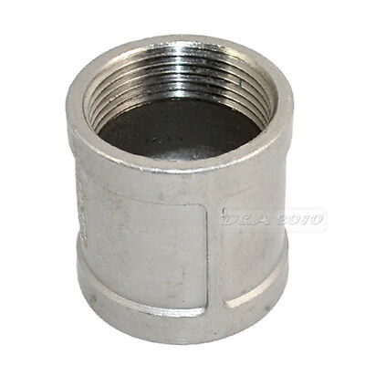 """1.25"""" Female x1.25"""" Female Couple SS 304 Threaded Pipe Fitting BSPT 49MM Length"""