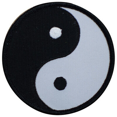 Yin Yang Patch - Black and White (Iron on)