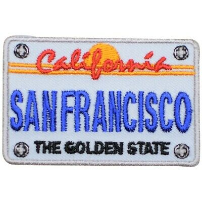 San Francisco Patch - California License Plate, The Golden State (Iron on)
