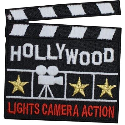 """Hollywood Patch - Movies, Clapperboard, California, Los Angeles 3"""" (Iron on)"""