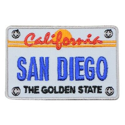 San Diego Patch - California License Plate, The Golden State (Iron on)