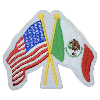 USA and Mexico Flags Patch (Iron on)