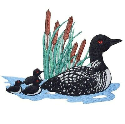 Divers Loon and Chicks Applique Patch (Similar to a Duck, Iron on)