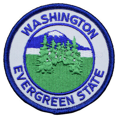 Evergreen State, Washington Patch (Iron on)