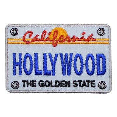 Hollywood Patch - California License Plate, The Golden State (Iron on)