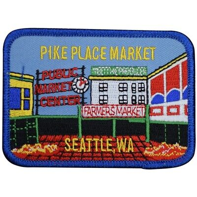 Pike Place Market Patch - Public Market Center, Seattle, Washington (Iron on)