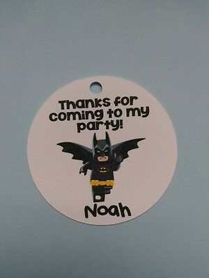 12 Personalized Lego Batman Movie Birthday Party Favor Tags