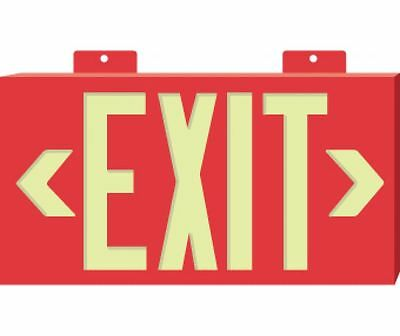 NEW National Marker 7011B METAL FRAMED RED EXIT SIGN