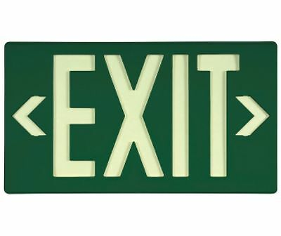 NEW National Marker 7040B GREEN EXIT SIGN