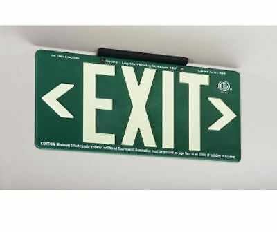 NEW National Marker 7082B 100FT GREEN EXIT SIGN