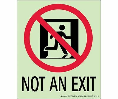 NEW National Marker 50F-5SN NOT AN EXIT SIGN