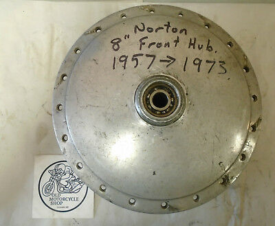 1957-1973 Norton Commando Front Wheel Hub 8`` Oem