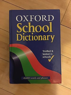 OXFORD SCHOOL DICTIONARY Hardback Book The Cheap Fast Free Post