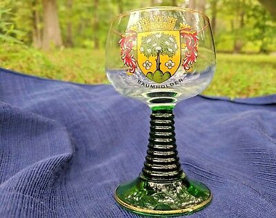 Antique German Roemer Wine Goblet - City of Baumholder - 1980s - Curio Kept