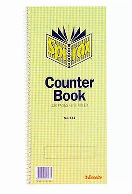 Spirax Counter Book 543 Feint 10 Pack