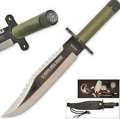RAMBO First Blood KNIFE Jungle Survival Blade First Blood Compass In Handle