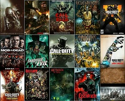 """Call of Duty Select Your Favorite Posters Black Ops4 Zombie Origins 21×14 27×40"""""""