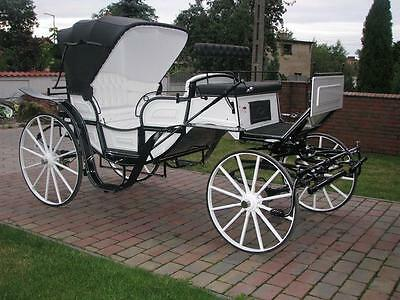Brand new horse carriage Vis-a-vis with roof