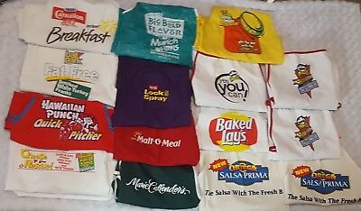 Vintage Apron Lot Pringles Sunny D Ball Park Advertising BBQ Collection