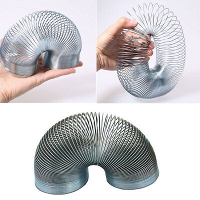 Silver Coloured Metal Coil Classic Kids Toy Filler Magic Bouncing Spring Party