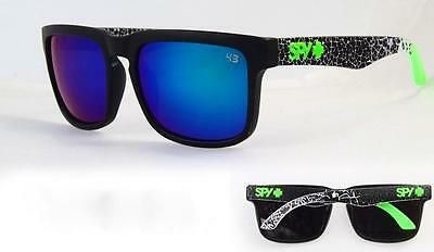 Mens Sunglasses Ken Block Spy Green White Black Reflective Lens 100% Uv $34.95