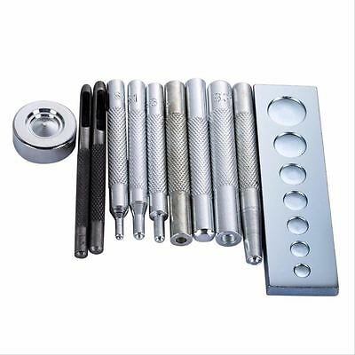 Die Punch Snap Rivet Button installation Set Base Leather Crafts DIY Tools Kit