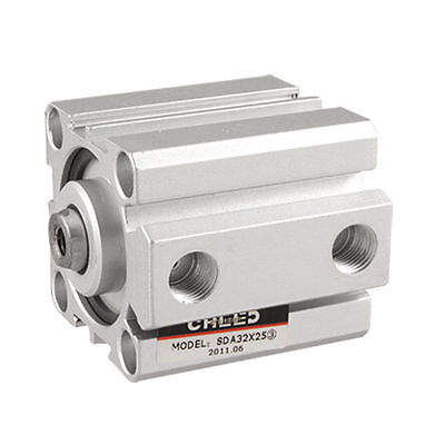 SDA 32x25 Series Double Action 32mm Bore 25mm Stroke Compact Thin Air Cylinder