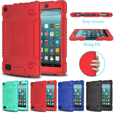 Shockproof Slim Soft Armor Case Cover for Amazon Kindle Fire HD 7/8 2017 7th Gen