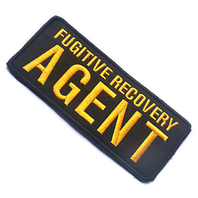 Fugitive Recovery Agent 3D U.s. Army Tactical Morale Badge Embroidered Patch #01