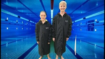 Swim Parka Wazsup Black with Lime Size L  (deck coat, swim jacket, beach robe)